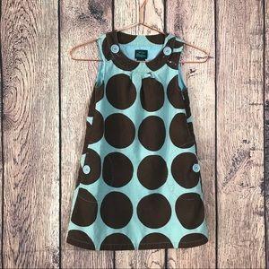 Mini Boden Girls Dress 7-8 Corduroy Polka Dot